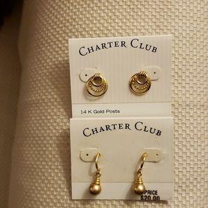 """Charter Club """"Twofer"""" Earrings"""